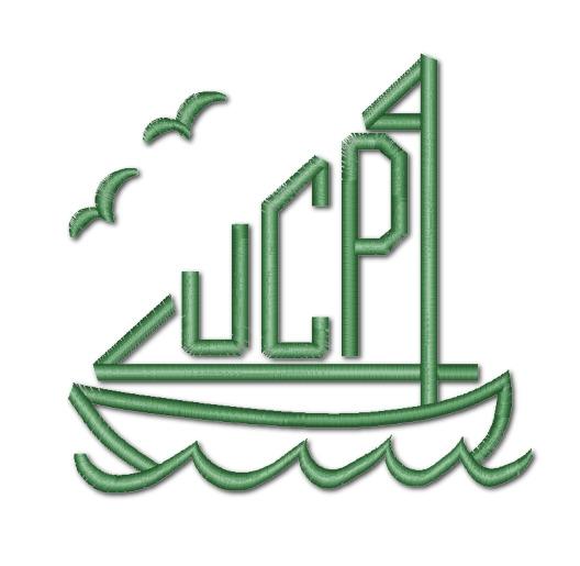 Cheap Embroidery Sailboat Monogram
